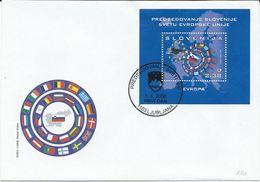 A019 FDC Slovenia Slowenien 2008 Mi.No. 668 Block Issue Of Slowenien Slovenia The Presidency To World Of European Union - Slovénie