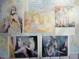 Marie Laurencin 5 Cartes - Peintures & Tableaux
