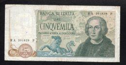 Banconota Italia 5000 Lire Colombo II° Tipo 11/4/73 (circolata) - [ 2] 1946-… : Républic