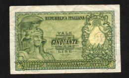 Banconota Italia 50 Lire Repubblica 1951 (BB) - [ 2] 1946-… : Républic