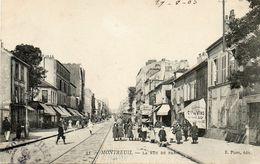 CPA - MONTREUIL (93) - Aspect De La Rue De Paris En 1905 - Montreuil