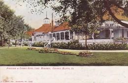 Iowa Council Bluffs Pavilion & Canna Bes Lake Manawa 1908 - Council Bluffs
