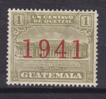 Guatemala Zwangzuschlagmarke 1941 Mi. 13     1 C. Aufdruck Overprinted '1941' MH* - Guatemala