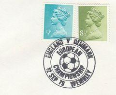 1979 COVER  ENGLAND V DENMARK Pmk WEMBLEY EUROPEAN CHAMPIONSHIP  GB Stamps Sport Soccer Football - Soccer
