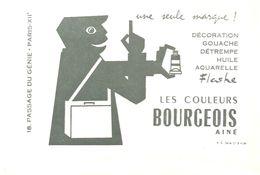 Buvard BOURGEOIS Les Couleurs BOURGEOIS Ainé Une Seule Marque G. PENOT à Orléans - Stationeries (flat Articles)