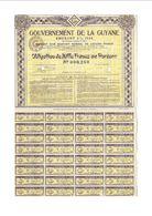 OBLIGATION GOUVERNEMENT DE LA GUYANE 1935 - EMPRUNT 5% 1934 - Autres