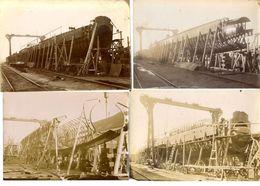 SUBMERSIBLE SC3  SOUS MARIN   12 PHOTOS ORIGINALES DE LA CONSTRUCTION  1910 / 1911 - Bateaux