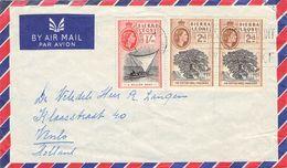 SIERRA LEONE - AIR MAIL LETTER 1959 FREETOWN -> VENLO/NL - Sierra Leone (...-1960)