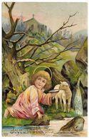 Joyeuses Paques - Agneau De Dieu - Postmark  1908 - EAS - Easter