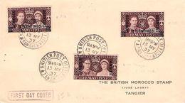 TANGIER - FDC 1937 CORONATION - Postämter In Marokko/Tanger (...-1958)