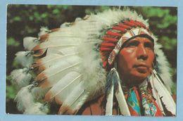 A035  CP  PAWNEE BILL'S INDIAN TRADING POST -  Pawnnee, Oklahoma  -  INDIAN CHIEF  ++++ - Etats-Unis