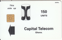 GHANA - Telecom Logo, Capital Telecom Telecard, First Issue 150 Units, Used - Ghana