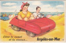 """Carte Système  N° 15 """" Lève Le Capot Et Tu Verras ARGELES Sur MER """" """" - Mechanical"""