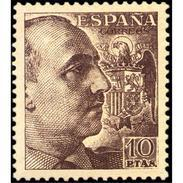 ES1059STV-LFT***1059STAN.España.Spain  Espagne. General FRANCO .1945/55. (Ed 1059**) Sin Charnela - 1931-Oggi: 2. Rep. - ... Juan Carlos I