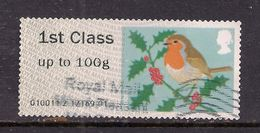 GB 2012 QE2 1st Up To 100 Gms Post & Go Christmas Robin ( T742 ) - Great Britain