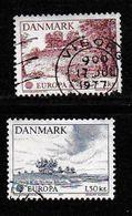 DENMARK, 1977, Used Stamp(s), Europa,  MI 639-640, #10134, Complete - Denmark