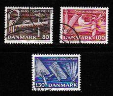 DENMARK, 1977, Used Stamp(s), Danish Handcraft,  MI 645-647, #10136, Complete - Denmark