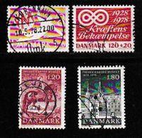 DENMARK, 1978, Used Stamp(s), Various Stamps,  MI 655=672, #10139, 4 Values - Denmark