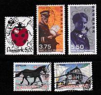 DENMARK, 1998, Used Stamp(s), Various, MI 1174=, #10238, 5 Values Only - Denmark