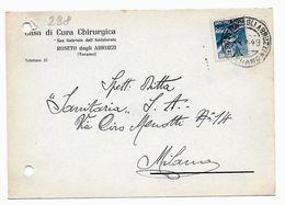 EDB298 - REPUBBLICA  1949, Cartoncino D'archivio Pubblicità Privata Sanitaria . Roseto - Salute