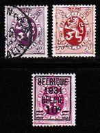 BELGIUM, 1931, Used Stamp(s), Definitives, MI 299=302,  #10302, 3 Values Only - Belgium