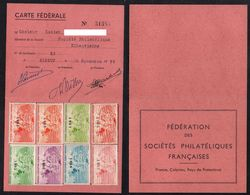 FRANCE - ELBEUF / 1955 A 1962 CARTE DE LA FEDERATION DES SOCIETES PHILATELIQUES (ref 6890) - Otros