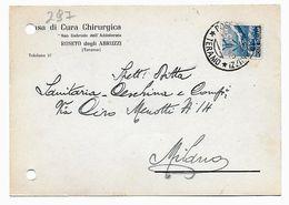 EDB297 - REPUBBLICA  1949, Cartoncino D'archivio Pubblicità Privata Sanitaria . Roseto - 6. 1946-.. Repubblica