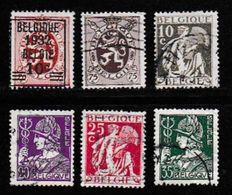 BELGIUM, 1932, Used Stamp(s), Definitives, MI 323=331  #10304, 6 Values Only - Belgium