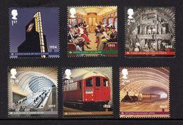 GRAN BRETAÑA 2013 GREAT BRITAIN - LONDON UNDERGROUND SET OF6 STAMPS - Eisenbahnen