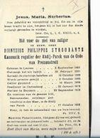 MA43/ ° LEUVEN 1821 + ADBIJ V PARK 1875 KANUNNIK PHIL.STROOBANTS PASTOR TE BEISSEM... - Religion & Esotericism