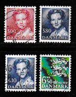 DENMARK, 1988, Used Stamp(s), Definitives, MI 905=913, #10181, 4 Values Only - Denmark