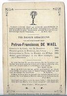 MA43/ ° LUBBEEK 1858 + VORST 1884 E.H.PETRUS DE WAEL PASTOR:VORST - Religion & Esotericism