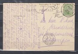 Postkaart Van Blankenberghe Naar Antwerpen - 1915-1920 Albert I