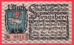 Allemagne 1 Notgeld 1 Mark  Stadt Krausberg UNC Lot N °200 - [ 3] 1918-1933 : Weimar Republic