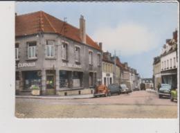 CPSM Grand Format Coupée - MARQUISE - Rue Ste Sainte Barbe - Voiture Ancienne Renault 4 Cv 2 Chevaux Camionnette Hy Café - Marquise