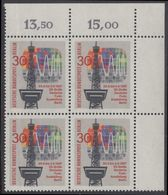 !a! BERLIN 1967 Mi. 309 MNH BLOCK From Upper Right Corner - Radio Show Berlin - Unused Stamps