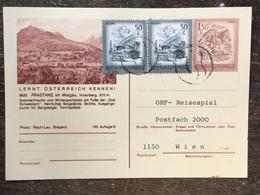 A17 Österreich Austria Autriche Ganzsache Stationery Entier Postal P 441 135/8 Frastanz Tennis - Ganzsachen