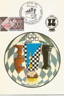 France Carte Postale FDC Souvenir XXI Jeux Olympiques échiquéens Nice Juin 1974 - Andere