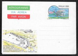 Italy - 1979 Pictorial Aerogramme 220 Lire - 70th Anniversary 1st Italian Designed Aircraft - Unused - 6. 1946-.. Repubblica