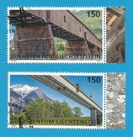 Lichtenstein  2018  Mi.Nr. 1886 / 87 , Europa Cept Brücken - Gestempelt / Used / (o) - 2018