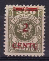 Memel MiNr 167 Mit Falz - Memel (Klaïpeda)