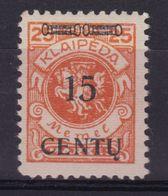 Memel MiNr 170 Mit Falz - Memel (Klaïpeda)