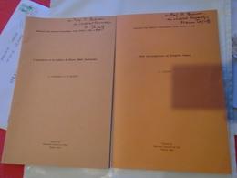 2 Tiré-à-part Signés HAROUN TAZIEFF : IGNIMBRITE ET LA CALDERA DE BATUR (BALI, INDONESIE), INVESTIGATIONS ERUPTIVE GASES - Wetenschap