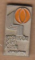 Basketball / Sport / Pin, Badges, Badge / Bosnia And Herzegovina Basketball Federation Camp 1978 - Basketball