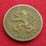 Czechoslovakia 1 Koruna 1959 KM# 46 Tchecoslovaquie Checoslovaquia Cecoslovacchia Tchèque Et  Slovaque - Cecoslovacchia