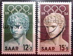 SARRE           N° 353/354              OBLITERE - 1947-56 Occupation Alliée