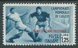 1934 EGEO MONDIALI DI CALCIO 1,25 LIRE MH * - I36-2 - Egeo