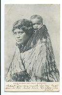 Maori Woman And Child, Wanganui - Undivided Back - New Zealand