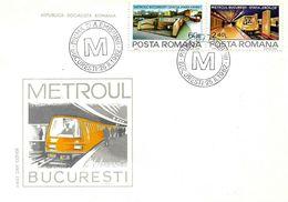 1982 - BUCHAREST TUBE (UNDERGROUND) - FDC