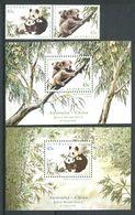 221 AUSTRALIE 1995 - Yvert 1453/54 BF 28/29 - Panda Geant - Neuf ** (MNH) Sans Trace De Charniere - 1990-99 Elizabeth II